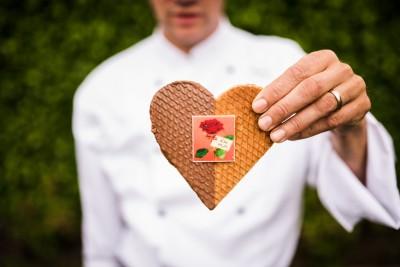 Choco stroopwafel moederdag hart