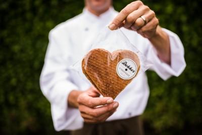 Stroopwafel hartvorm
