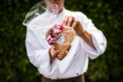 Moederdag stroopwafel (hartvormig)